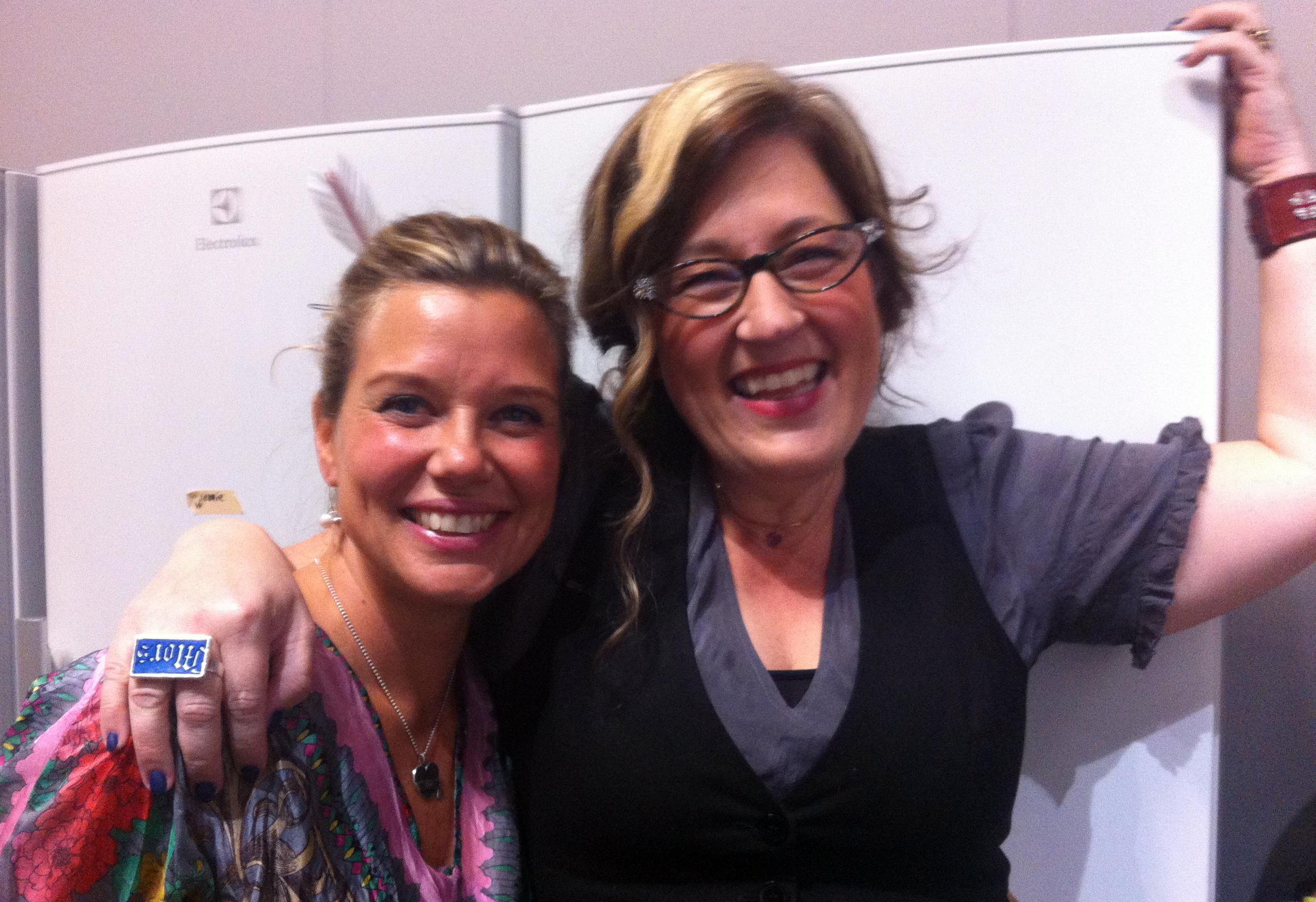 Emma Hamberg och Anette Rosvall bokmassan 2013
