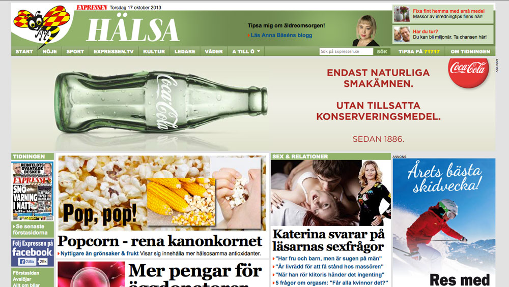 Expressen-Halsa-Coca-cola