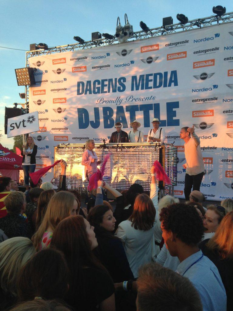 DJ battle i Almedalen