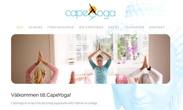 CapeYoga-hemsida