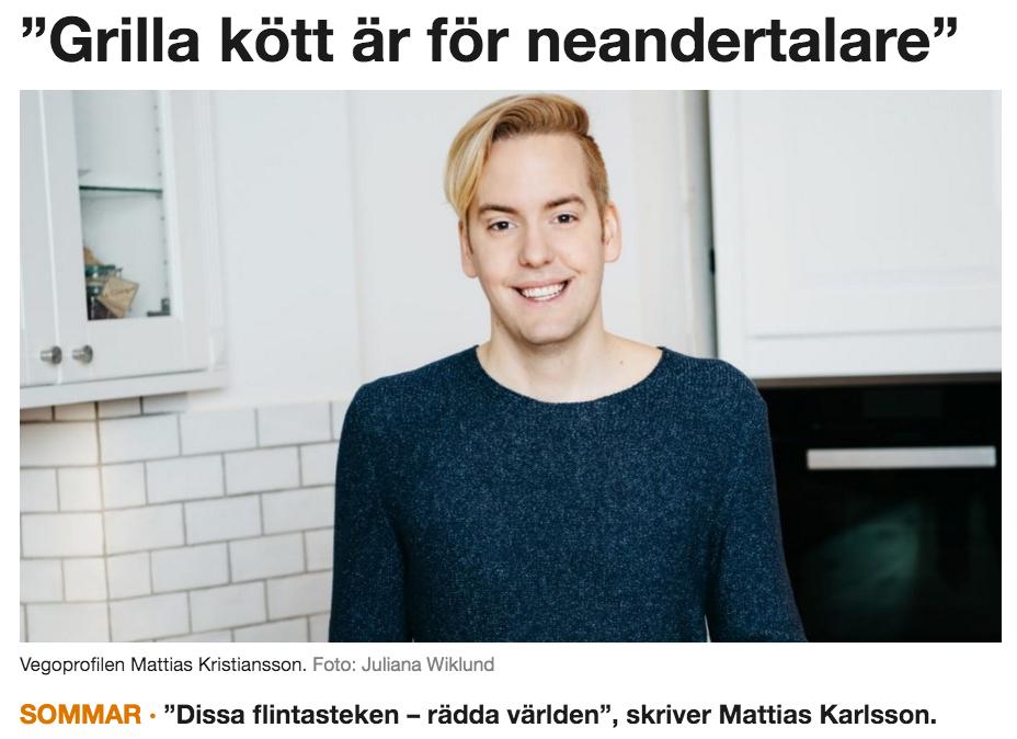 Mattias Krisitansson, Vegomagasinet