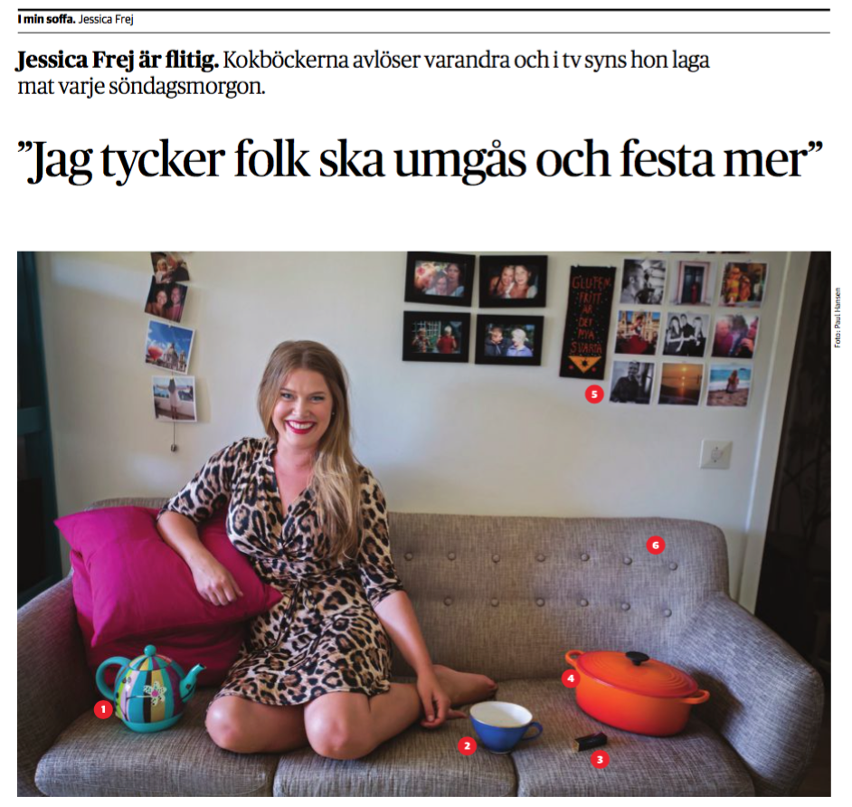 "Jessica Frej Dagens Nyheter ""i min soffa"""