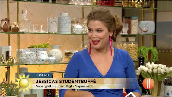 487083f01ec7 Jessica Frej fixar studentbuffé i TV4 Nyhetsmorgon
