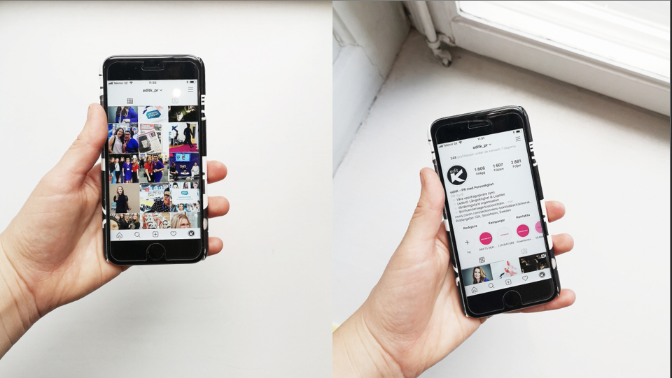 Tips instagram, Mobil