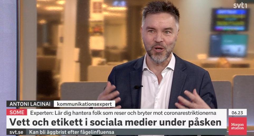 Antoni Lacinai i Morgonstudion SVT1